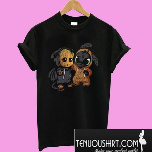 Baby Groot And Toothless T-Shirt