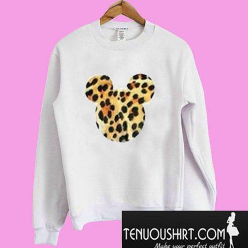 Mickey Mouse Leopard Head Sweatshirt