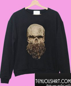 A skull and a beard Sweatshirt