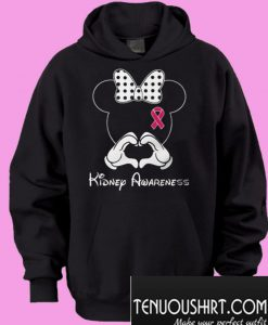 Breast cancer Mickey Mouse Kidney Awareness Hoodie
