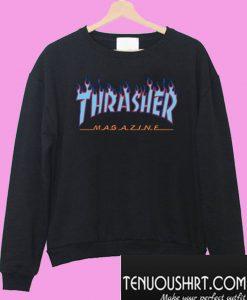 Thrasher Purple blue Flame Sweatshirt