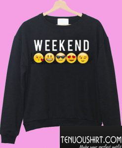 Weekend Emoji Sweatshirt