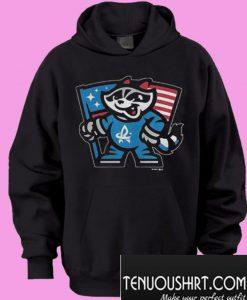 Rocket City Trash Panda FLAG CHARCOAL Ls Hoodie