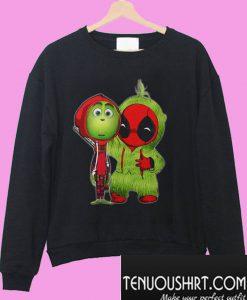 The Grinch and Deadpool Baby Christmas Sweatshirt