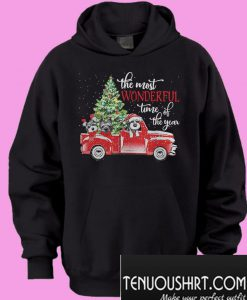 The most wonderful time of the year Dog Christmas Hoodie