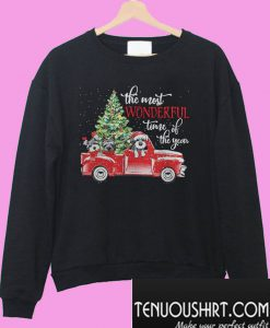 The most wonderful time of the year Dog Christmas Sweatshirt