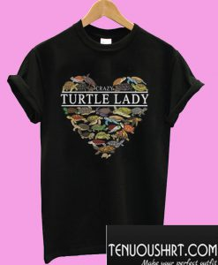 Turtle lady crazy heart T-Shirt