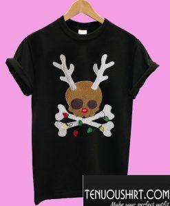 Skull reindeer Jolly Roger T-Shirt