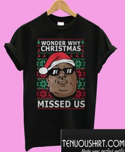 Wonder why Christmas missed us T-Shirt