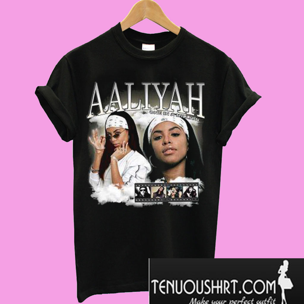 cute cheap great prices fast delivery Aaliyah Homage T-Shirt