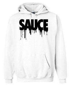 Black Sauce White Hoodie