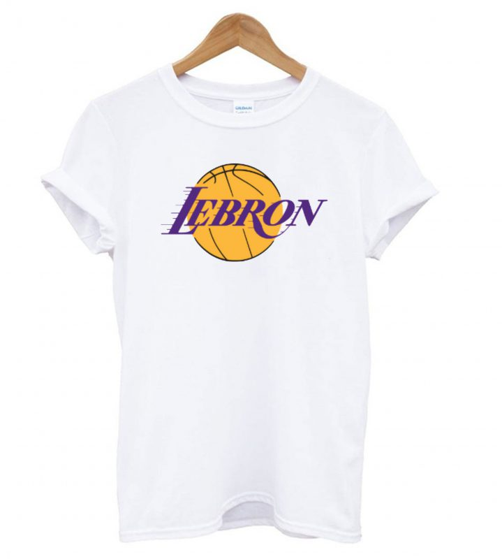 low priced cdfb3 760cc LeBron James Los Angeles Lakers Logo T shirt