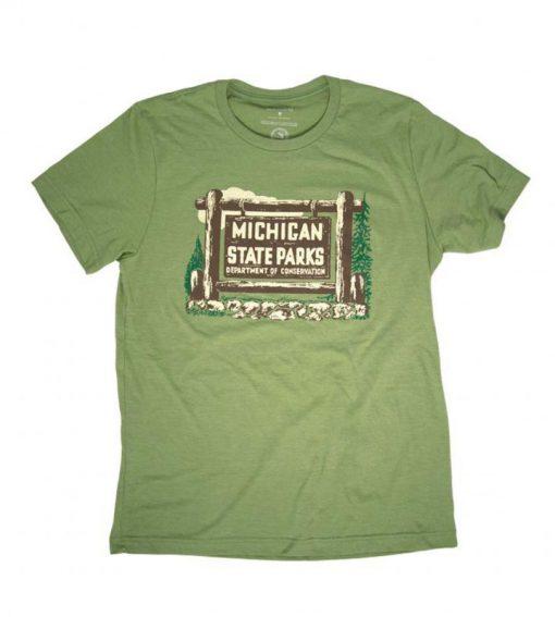 1961-Michigan-State-Parks-Vehicle-Permit-T-shirt-719×800