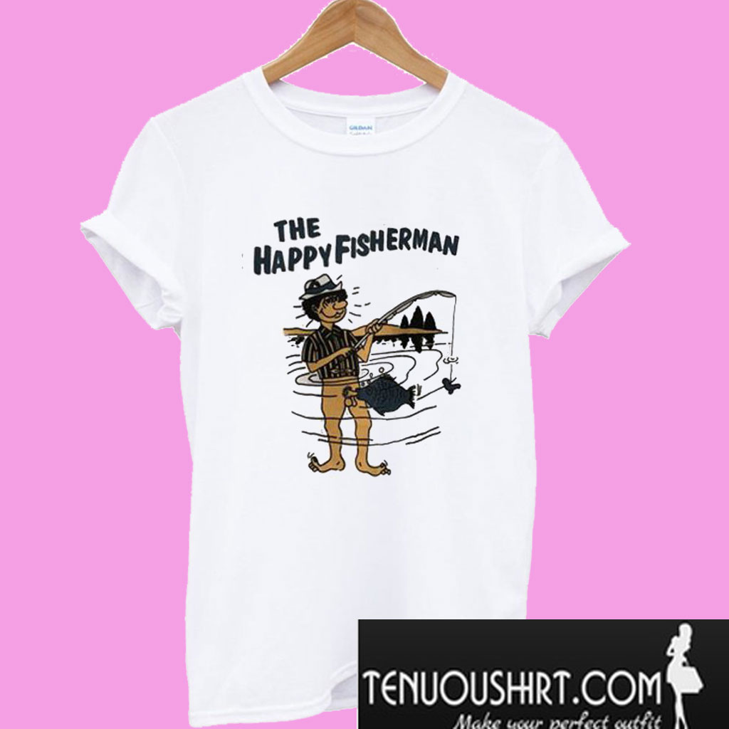 0f8173e2 Happy Fisherman White T-Shirt