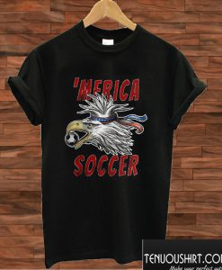 USA Soccer Merica Bald Eagle T shirt
