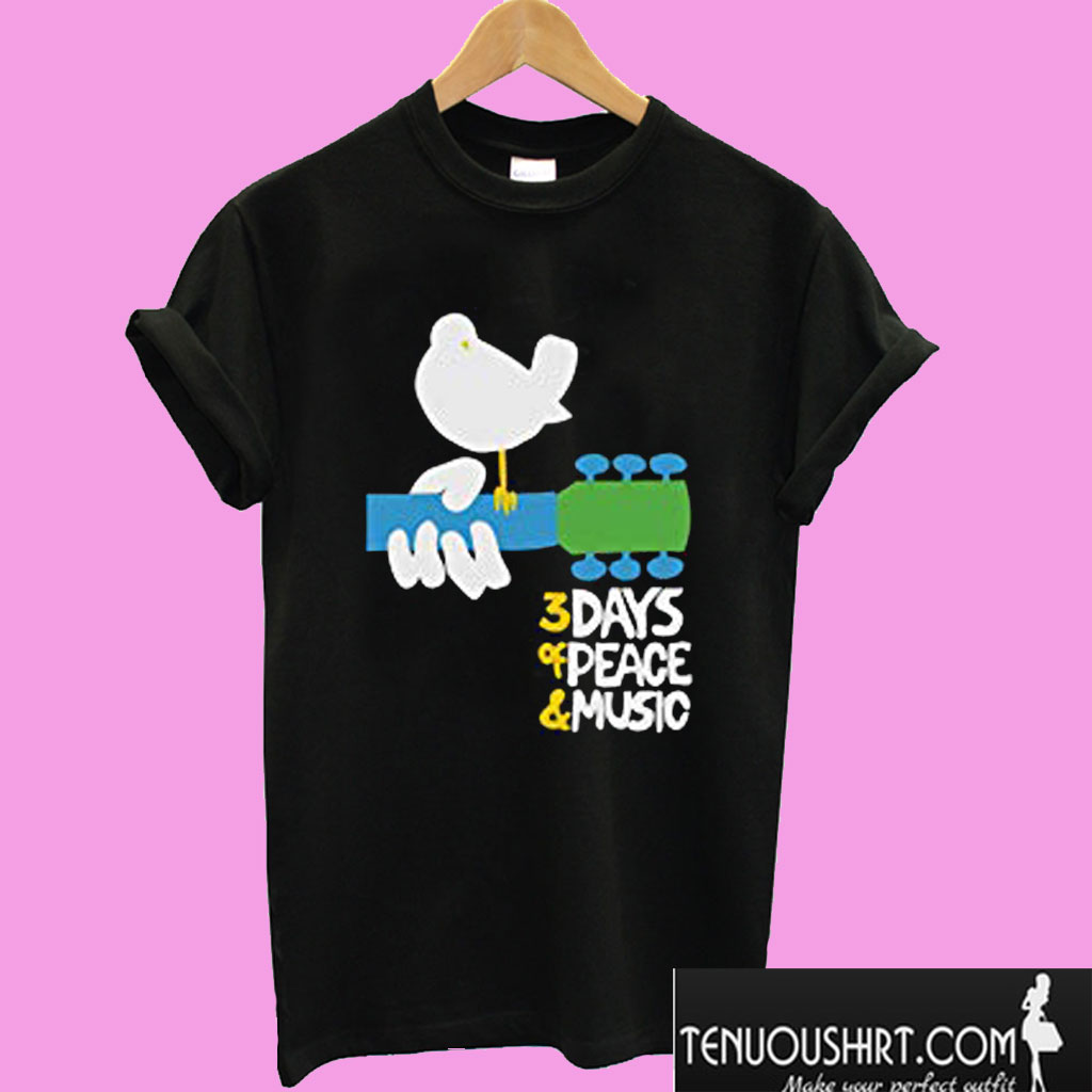 Woodstock Rock Festival 3 Days Of Peace & Music T shirt