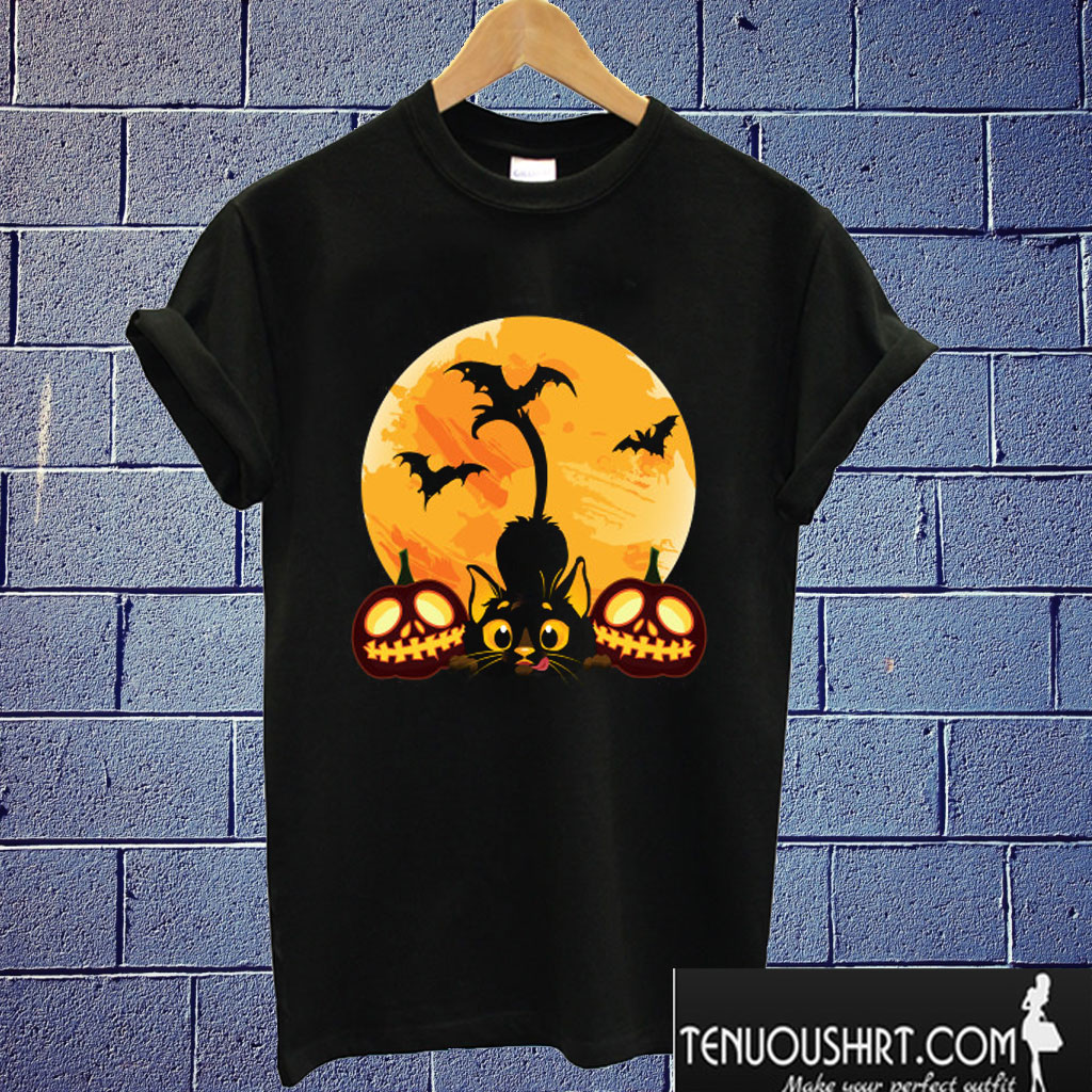 Halloween Cat T shirt