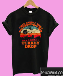 First Annual WKRP Thanksgiving Day Turkey Drop Vintage T shirt