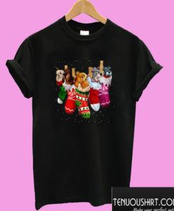 Christmas Stockings Lady And The Tramp Dogs T shirt
