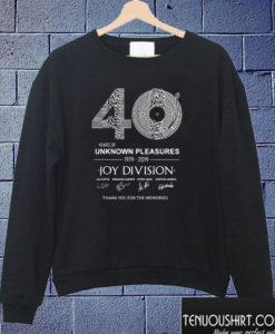 40 years of unknown pleasures joy division Sweatshirt