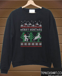 Merry Huntmas Deer Hunting Christmas Sweatshirt