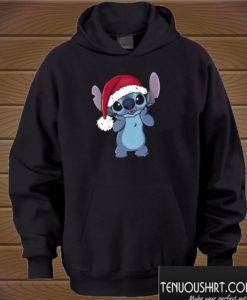 Stitch Santa Hat Christmas Hoodie