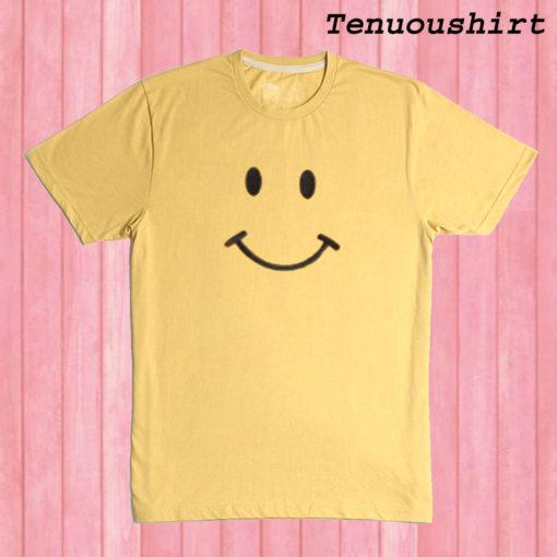 Mustard Yellow Smiley Face T shirt